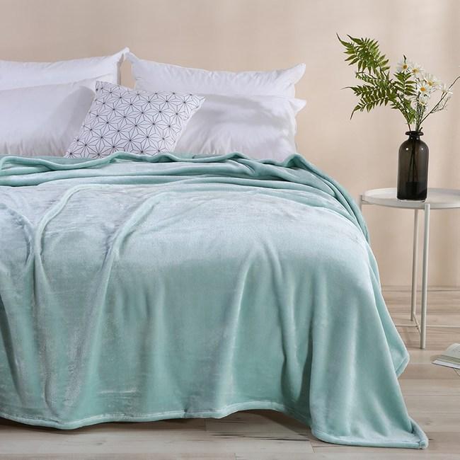 加厚珊瑚絨毛毯150cmx200cm-綠