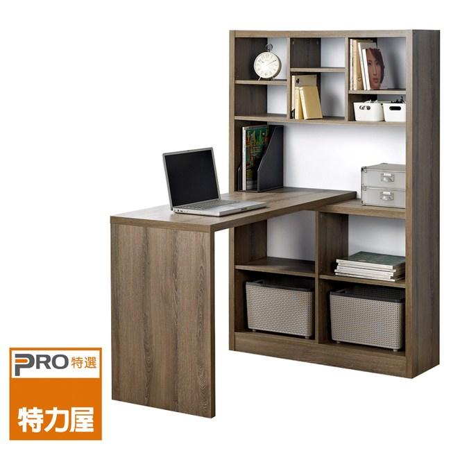 特力屋歐登書櫃型複合式書桌 採E1板材