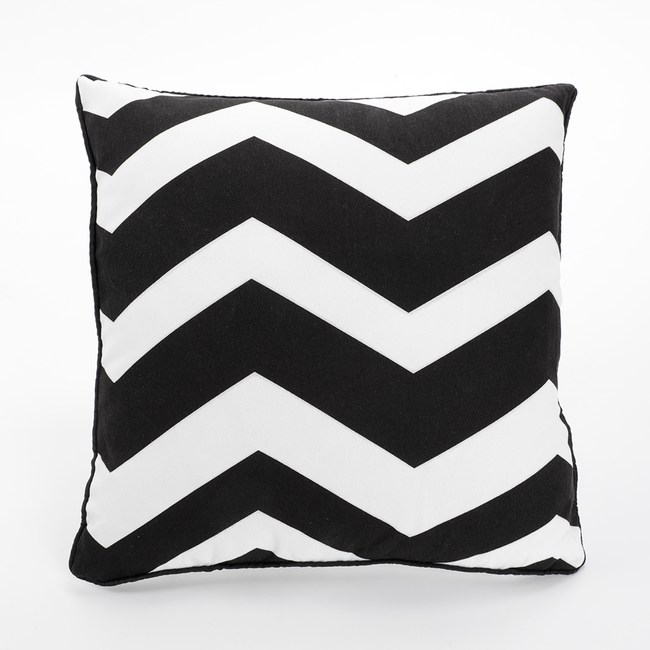 簡約幾何抱枕套45x45cm 黑