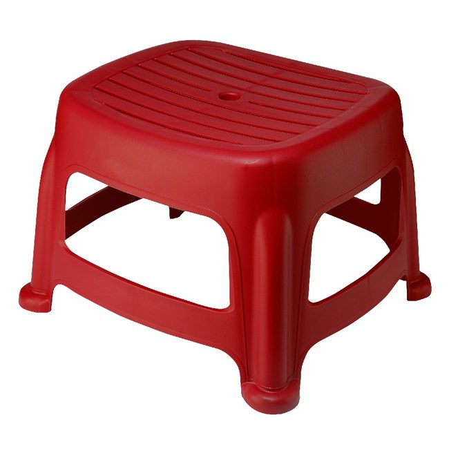 KEYWAY 花園止滑椅(高25CM) 紅色款 RC6652 33.2x36.4x25cm