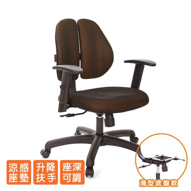GXG 人體工學 雙背椅 (升降扶手)TW-2991 E5#訂購備註顏色