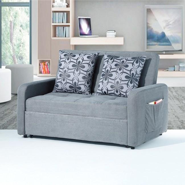 【YFS】海倫灰布沙發床-135x192x43cm(兩色可選)灰色