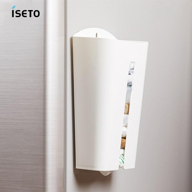【nicegoods】日本ISETO 塑膠袋收納存取架白