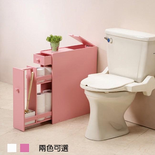《C&B》朵拉日式衛浴收納架(兩色可選)粉紅