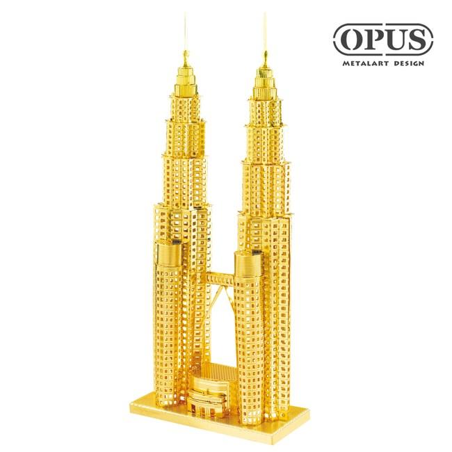 OPUS 3D立體金屬拼圖/益智DIY建築模型(雙子星大廈)