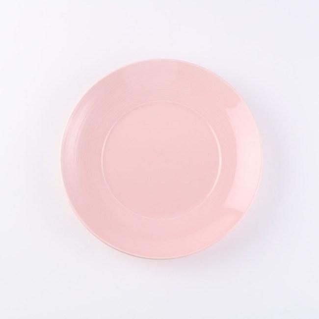 HOLA 璞真純色平盤24cm淺粉