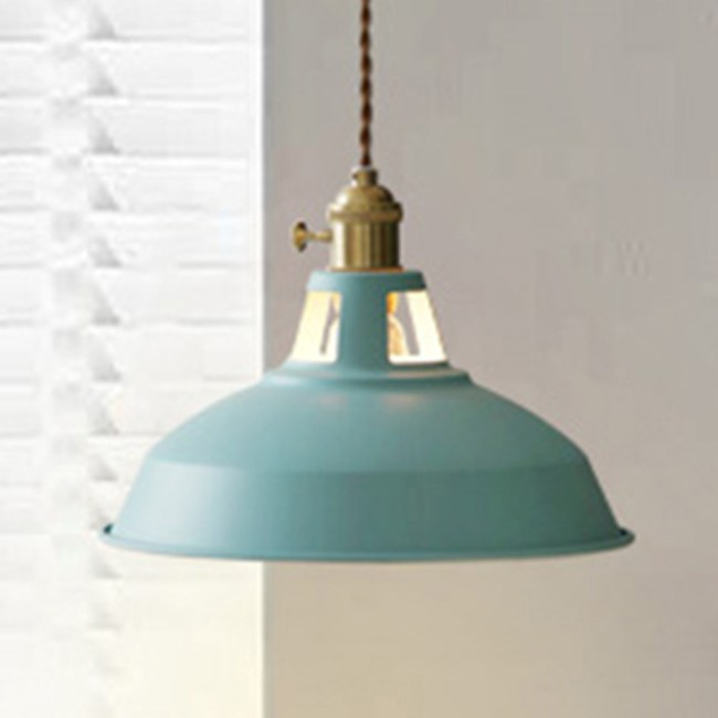 HONEY COMB 北歐風馬卡龍編織花線單吊燈 六色款 藍色 TA8819