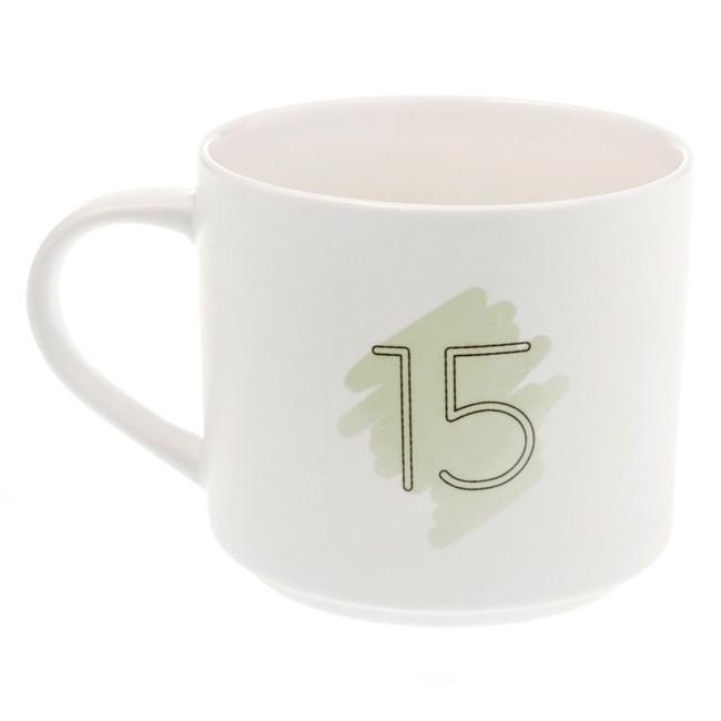 HOLA 數字馬克杯 15號 380ml 15th Fifteenth