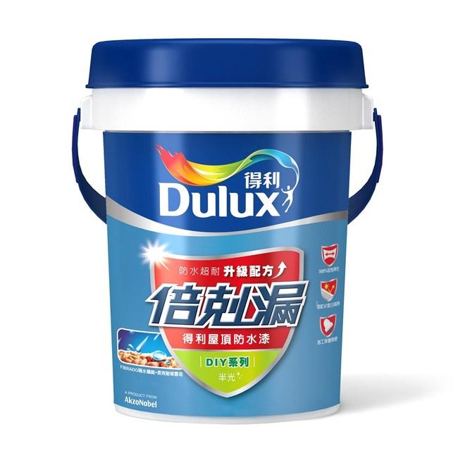 Dulux得利倍剋漏屋頂隔熱防水漆冰雪白10L室內降5度防水長達5年