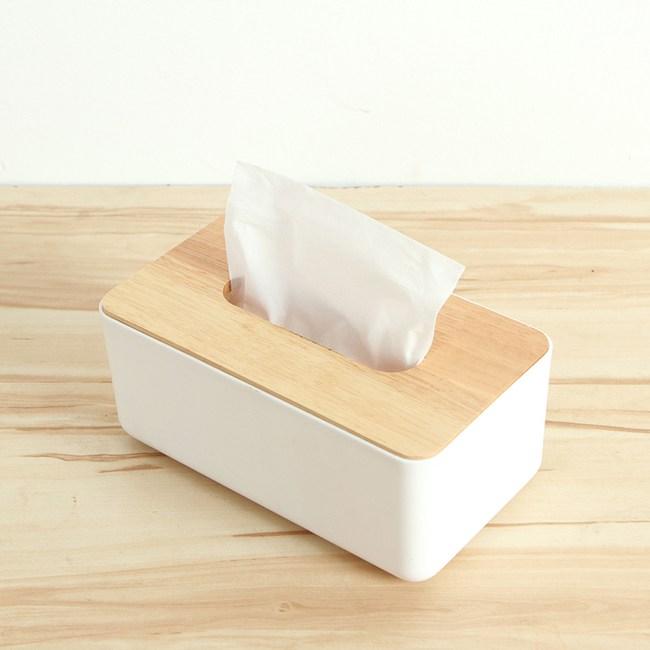 【三房兩廳】橡木面紙盒-小(方形木蓋)