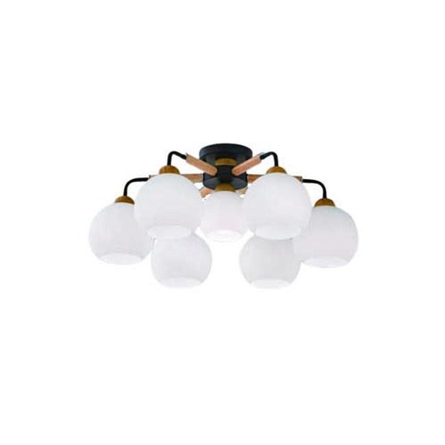 【YPHOME】北歐風附電子開關6燈半吸頂燈 適合客廳 主臥