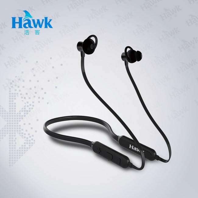Hawk B700頸掛式藍牙耳機麥克風(03-AXB700)黑色