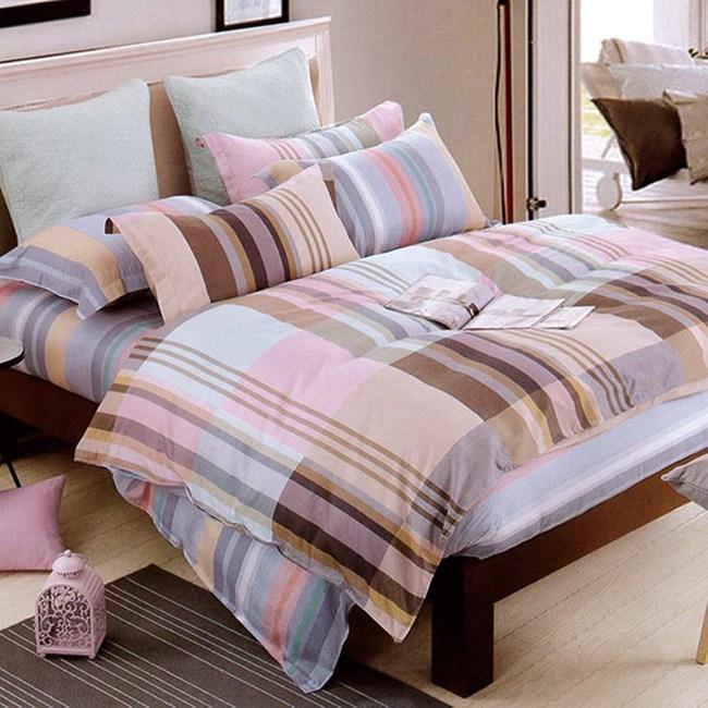 【Indian】雙人四件式純綿兩用被床包組-布拉格