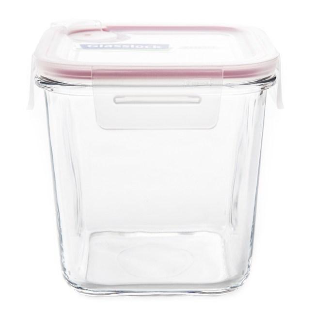 Glasslock 強化玻璃可微波氣孔上蓋保鮮罐 正方形 920ml