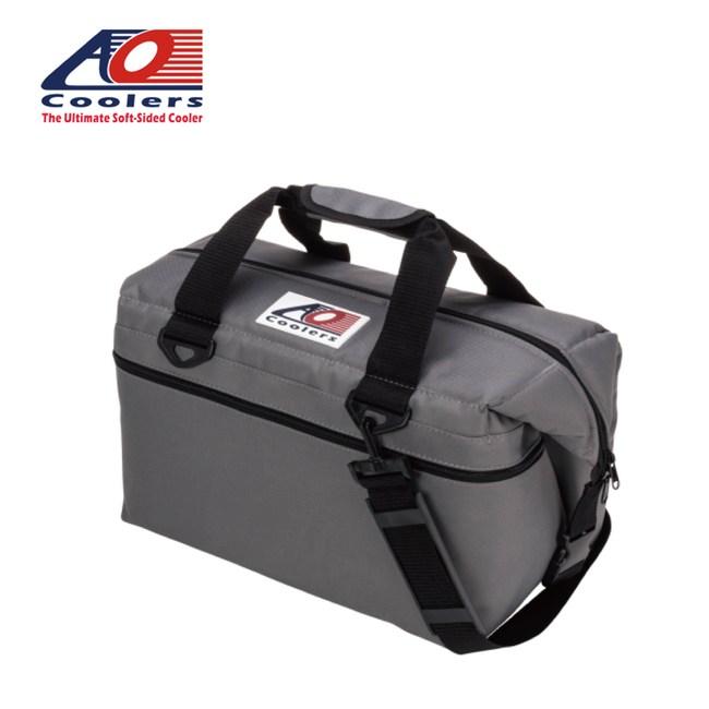 【AO COOLERS】軟式輕量保冷托特包-24罐型經典帆布-炭灰