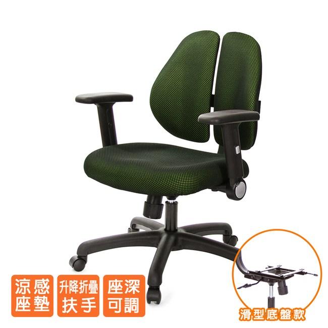 GXG 人體工學 雙背椅 (摺疊升降扶手)TW-2991 E1#訂購備註顏色