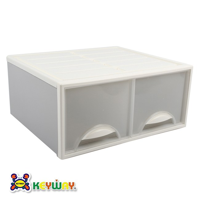 KEYWAY 白色抽屜整理箱 32L K098-2 51x44x23cm
