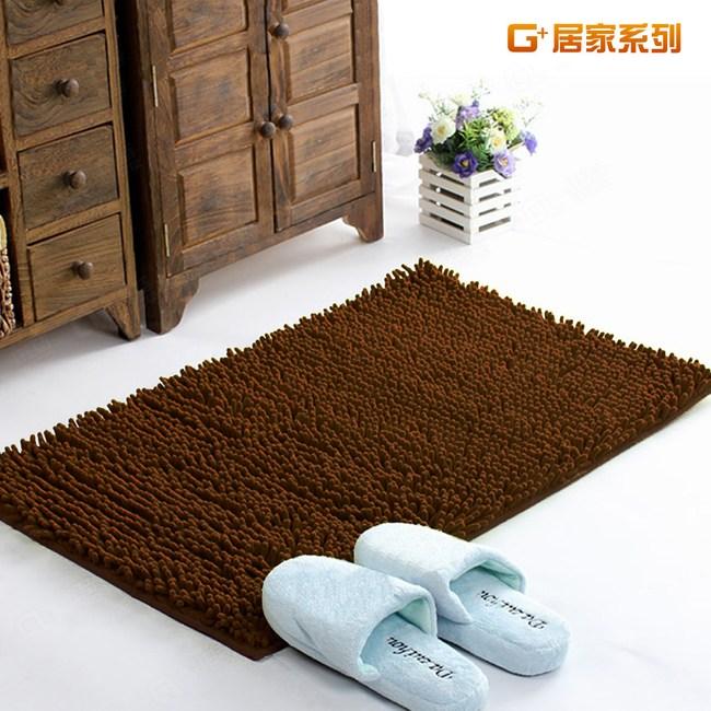 【G+居家】超細纖維長毛吸水止滑墊 40x60cm - 深咖啡