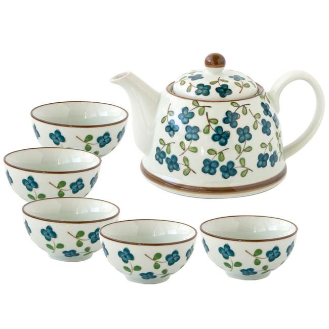 四葉草陶瓷一壺五杯茶具組