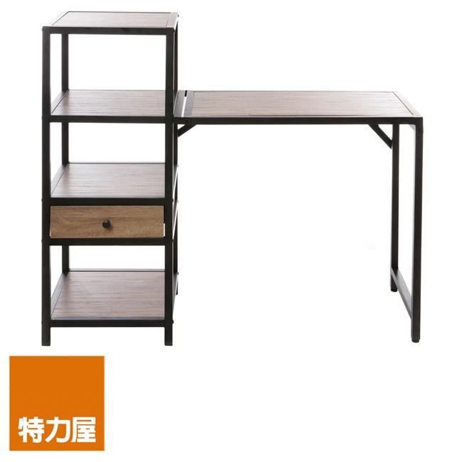 特力屋 置物櫃 附可收合書桌 採E1板材