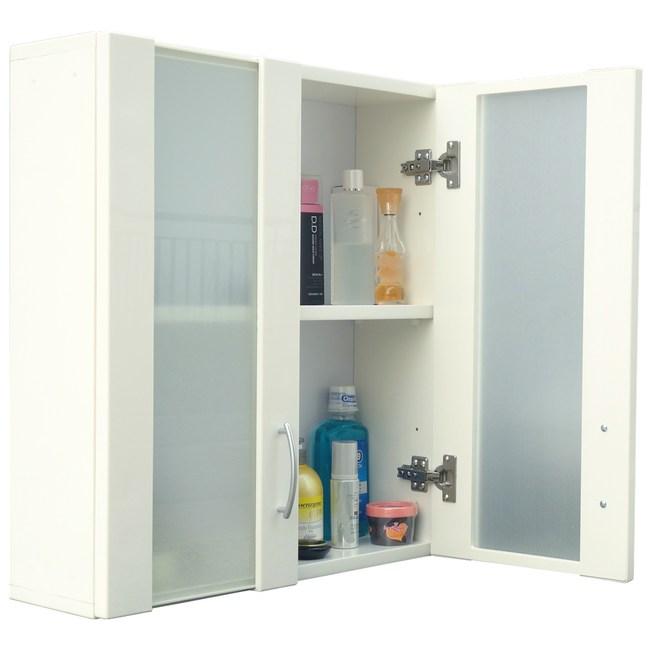 經典霧面雙門防水塑鋼浴櫃/置物櫃-白色1入