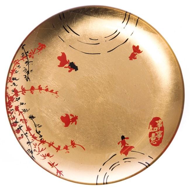 迎春盛宴系列 玻璃圓盤 15.5cm 金色款