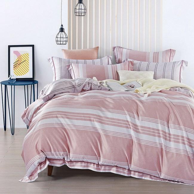送-舒眠枕【DON純粹時光】加大四件式吸濕排汗天絲兩用被床包組