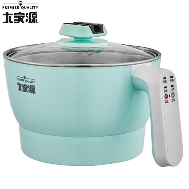 大家源 2.0L微電腦美食鍋-粉綠色 TCY-2701B