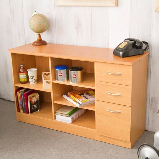 自由百變收納功能書桌櫃電腦桌(櫸木)