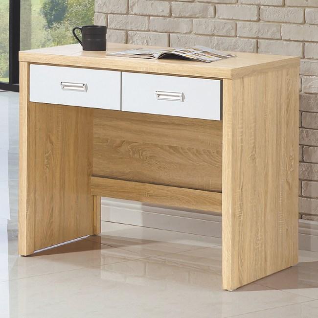 【YFS】菲蕾原切橡木3尺書桌-90x56x79cm