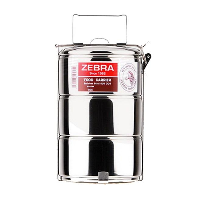 ZEBRA斑馬304不鏽鋼3層便當盒14cm 8143