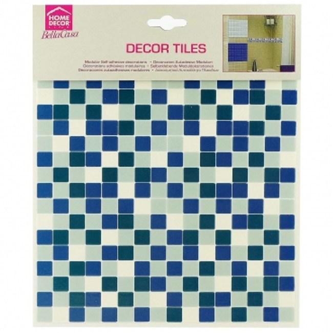 義大利HOME DÉCOR3D馬賽克磁磚貼-藍白格C31108-1