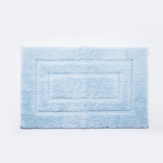 HOLA 超細纖維抗菌吸水踏墊50x80cm 藍