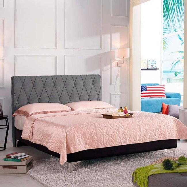 法莉嘉6尺雙人床(灰色布)