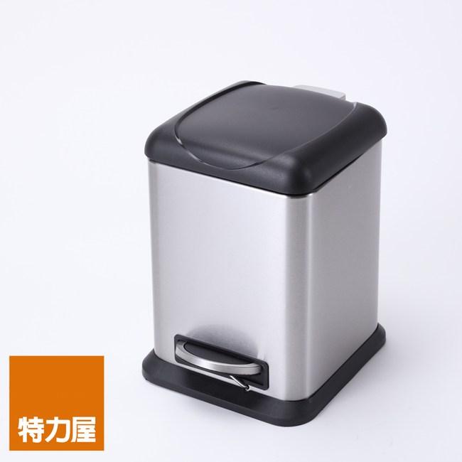 特力屋 方型緩降踏式垃圾桶 6L