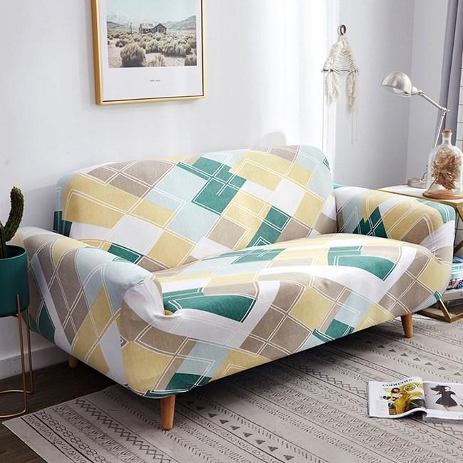 【歐卓拉】輕快生活彈性沙發套-3人座