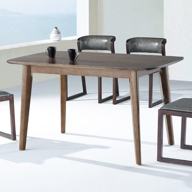 【YFS】貝克全實木4.6尺餐桌-140x80x75cm