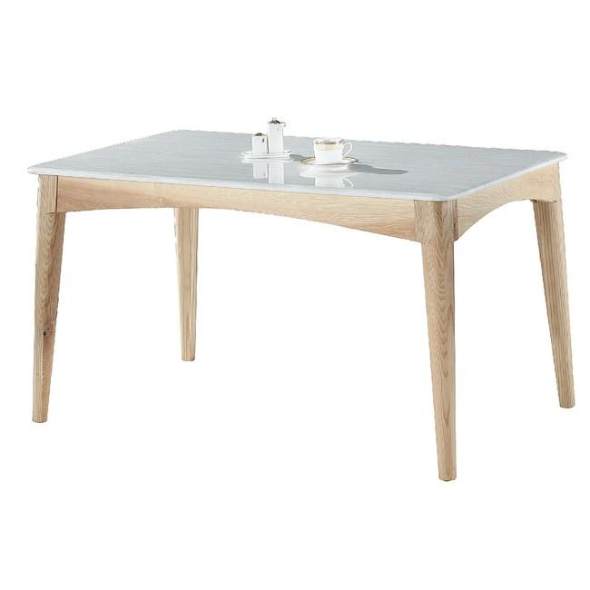 【YFS】東尼4.3尺石面餐桌130x80x73cm