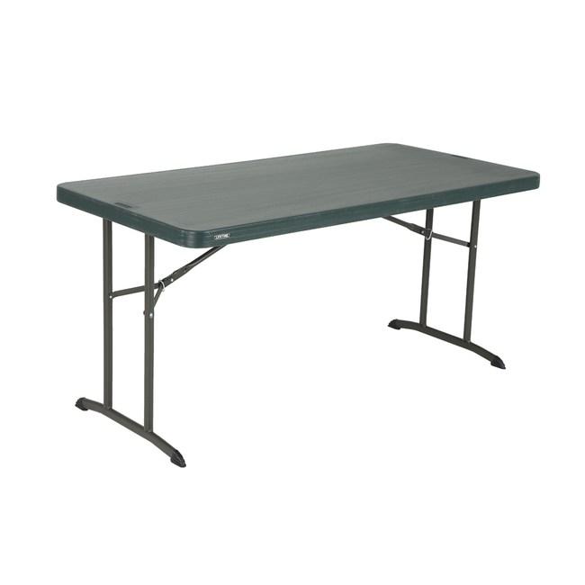 Lifetime長方桌 黑 塑膠 美國品牌 支撐腳可折疊 好收納