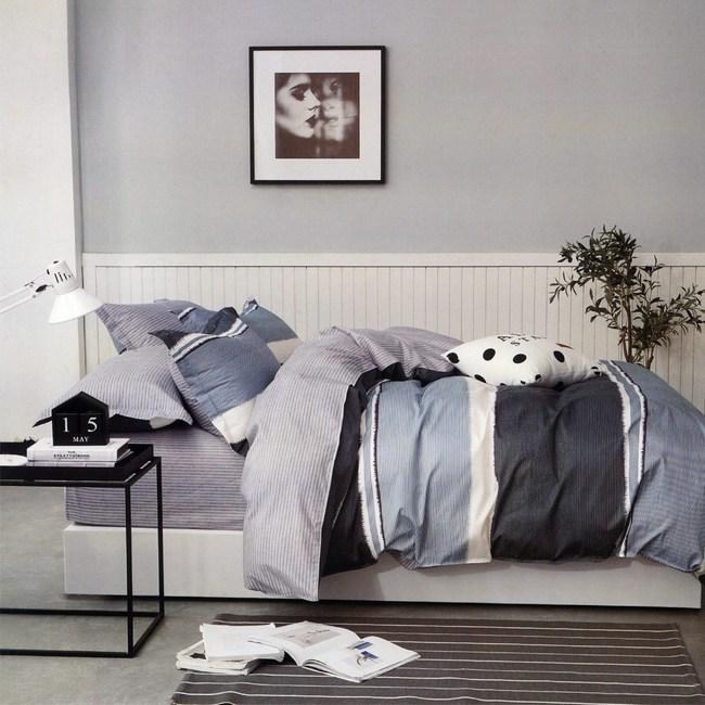 BEDDING-條紋純棉兩用被套-格調-6X7尺