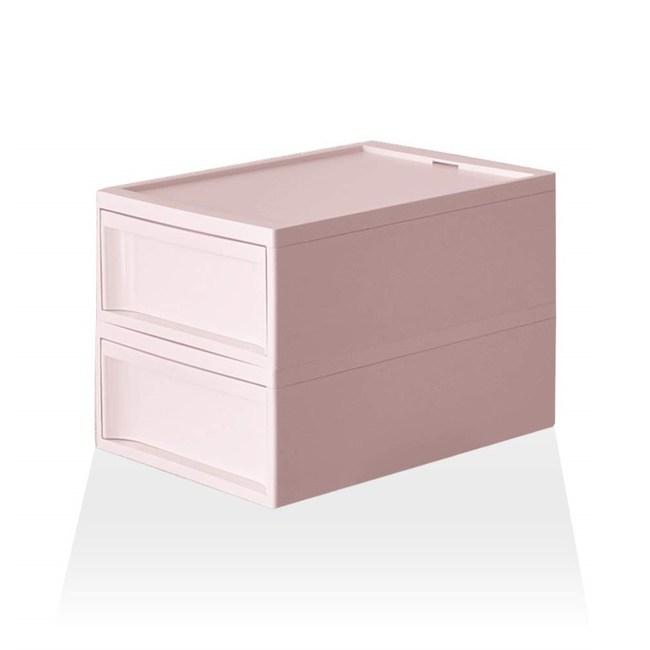 【RISU】北歐風堆疊抽屜櫃組 M -粉紅色