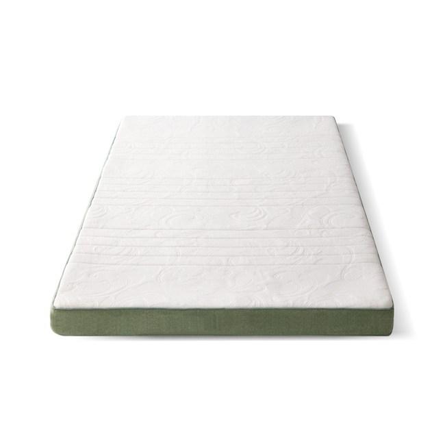 源氏木語舒眠防螨乳膠山棕釋壓薄床墊3.3尺/100x200x10cm J46綠