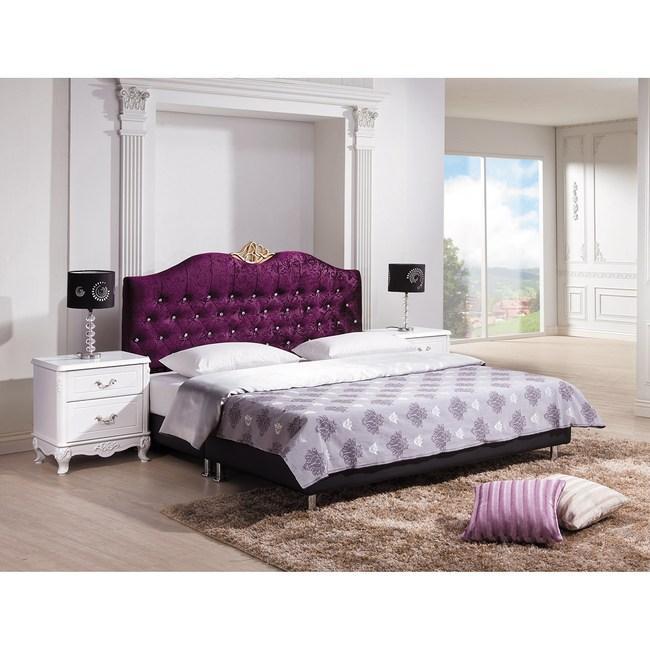 溫妮莎紫色絨布5尺床頭片(不含床底)