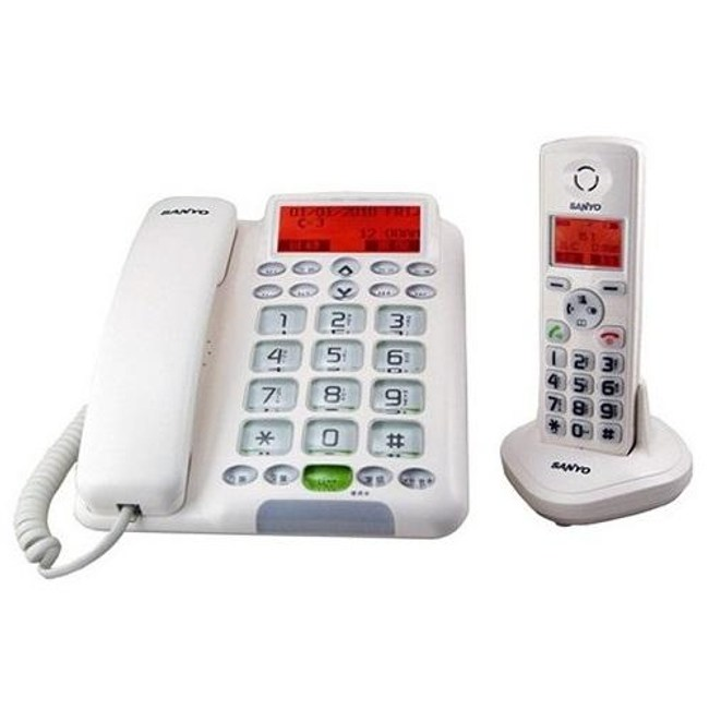 SANLUX 台灣三洋 數位親子機電話  DCT-9951 白