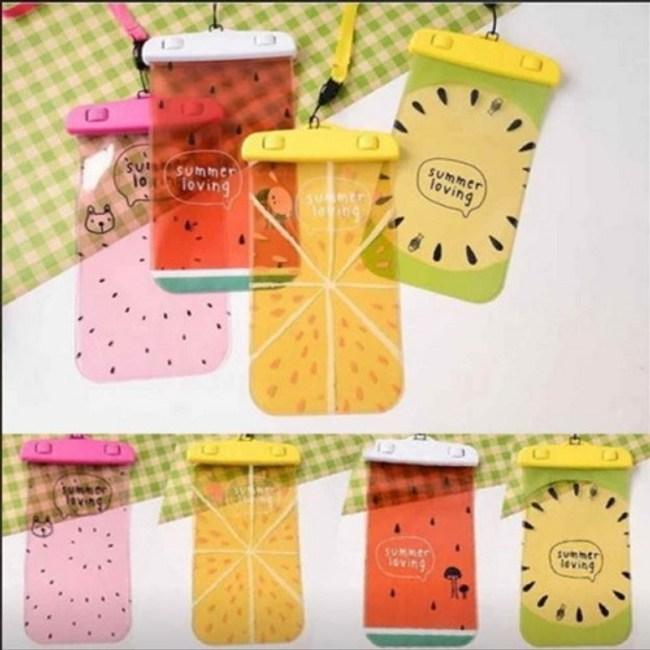 買一送一★夏日水果 可觸控防水袋柳橙黃