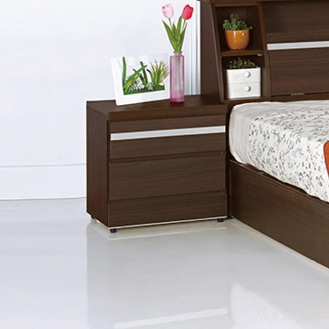 【YFS】潔西卡胡桃二抽床頭櫃-48x40.5x49cm