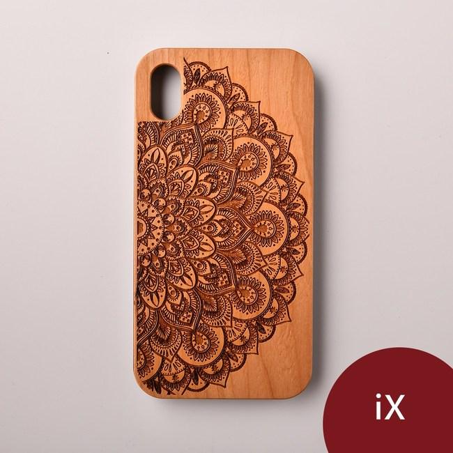 Woodu 木製手機殼 曼陀羅 iPhone X適用