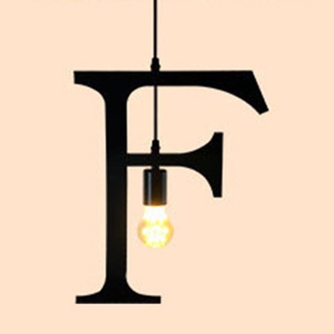 HONEY COMB 復古風英文字母吊燈 F版 TA0065