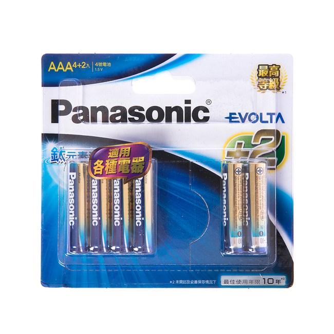 panasonic EVOLTA 鈦元素電池4號4+2入