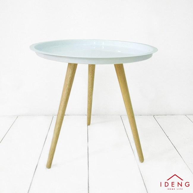 伊登 黑白圓舞曲 雙色圓矮桌(純淨白)